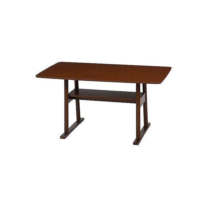 ダイニングテーブル ブラウン W1200×D750×H660mm 天然木化粧繊維板 おしゃれ(代引不可)【送料無料】【S1】