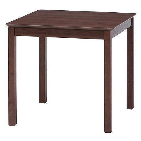 ダイニングテーブル W750×D750×H720mm 天然木 MDF おしゃれ ブラウン(代引不可)【送料無料】【S1】