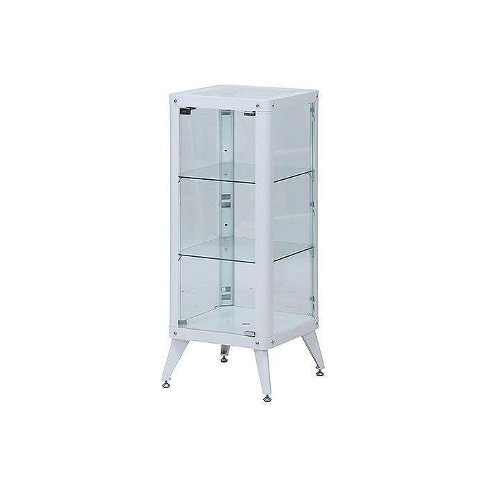 コレクションケース W400×D400×H1050mm 強化ガラス おしゃれ ホワイト(代引不可)【送料無料】