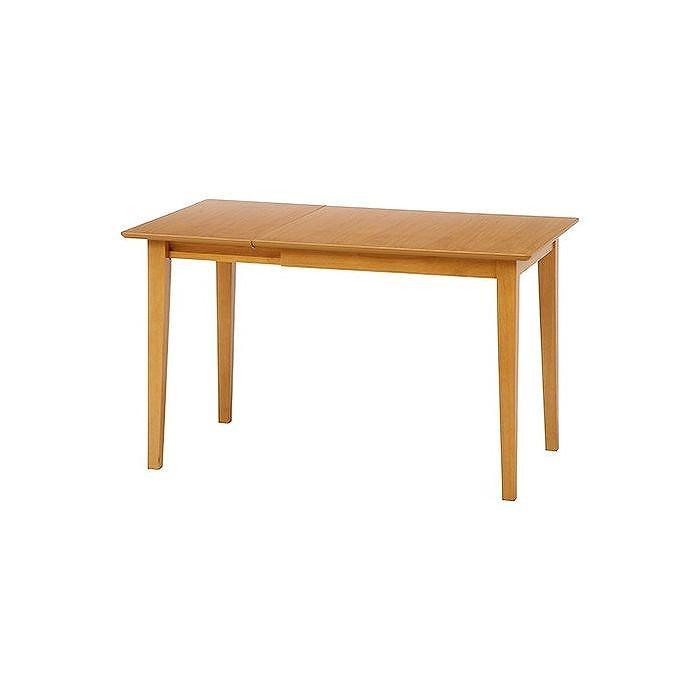 エクステンションダイニングテーブル W800~1200×D750×H710mm 天然木化粧繊維板 おしゃれ ナチュラル(代引不可)【送料無料】【S1】