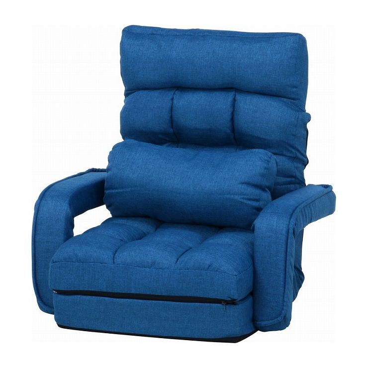 4WAY座椅子 ネイビー 幅70×奥行58~167×高さ11~70cm 座面高 110~220mm(代引不可)【送料無料】【S1】