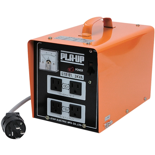スズキット・ポータブル変圧器‐プラアップ・STX-01 電動工具:電工ドラム・コード:変圧器(トランス)(代引き不可)【送料無料】