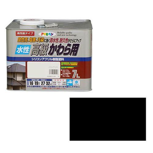 アサヒペン 水性高級かわら用 7L-スレートブラック【送料無料】【S1】