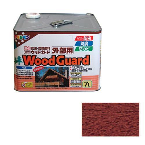 アサヒペン 油性ウッドガード外部用 7L-マホガニー-07【送料無料】【S1】