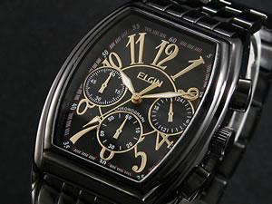 cc35d39dd9 エルジン ELGIN 腕時計 クロノグラフ メンズ ベッド FK1215B-B【_包装 ...