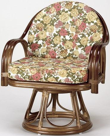 座椅子 天然籐回転チェア ハイタイプ 回転座椅子 籐 天然籐 回転 椅子 チェアー イス 高座椅子(代引不可)【送料無料】