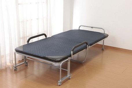 折りたたみベッド シングル 座面高40cm 立ち座り楽ちん リクライニングベッド ベッド 折りたたみ 収納ケースが入る ベッド(代引不可)【送料無料】