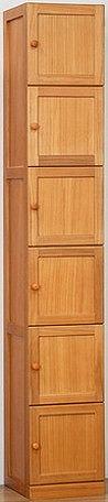 キッチン収納 桐製すきま収納庫 6ドア 30cm幅 キッチン棚 扉付き すきま収納 6段 大容量 収納 収納庫(代引不可)【送料無料】