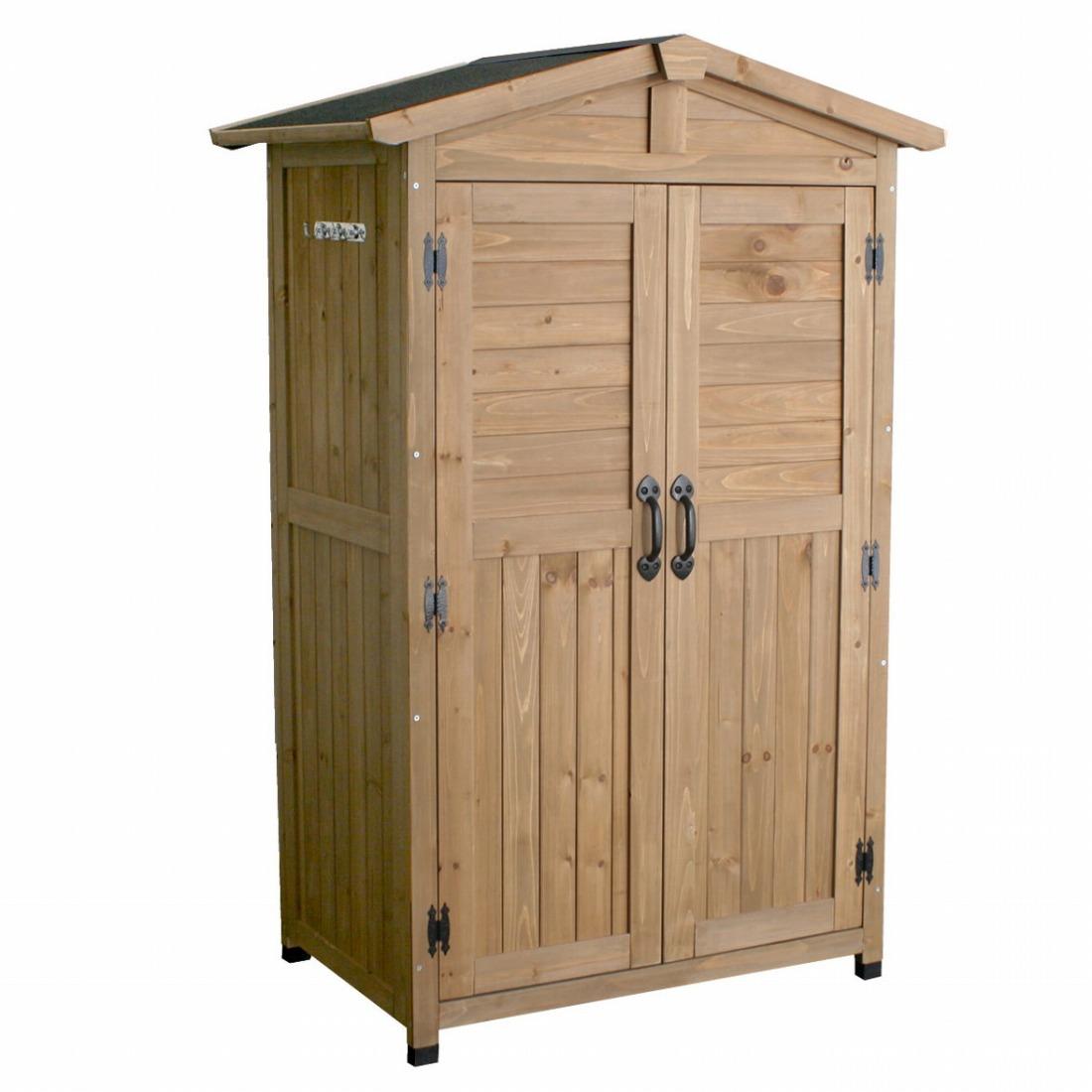 物置 倉庫 収納庫 天然木 木製 庭 物入れ おしゃれ 大型 北欧 ナチュラル ガーデニング 屋外 家具(代引不可)【送料無料】