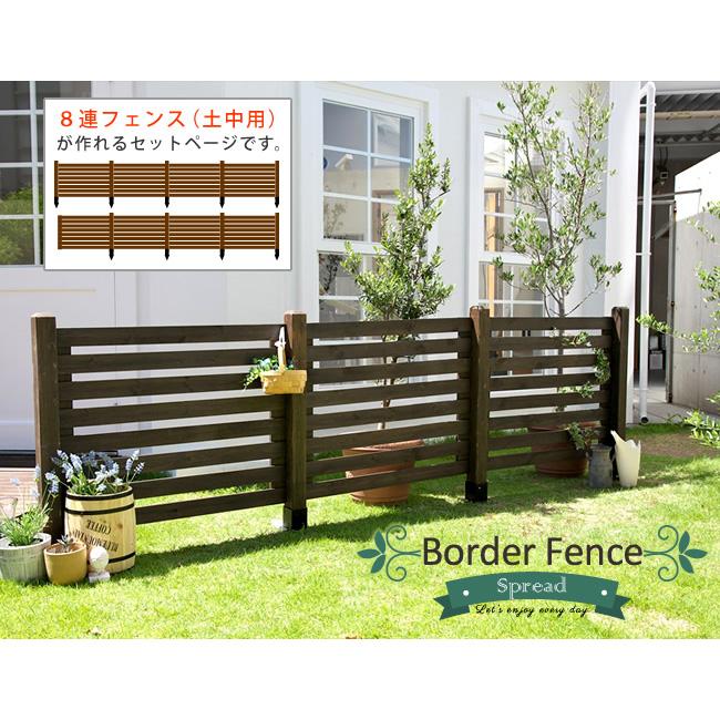 ボーダーフェンス スプレッド 土中8連結セット フェンス 低い 細め ボーダー アンティーク ガーデン ガーデニング おしゃれ(代引不可)【送料無料】