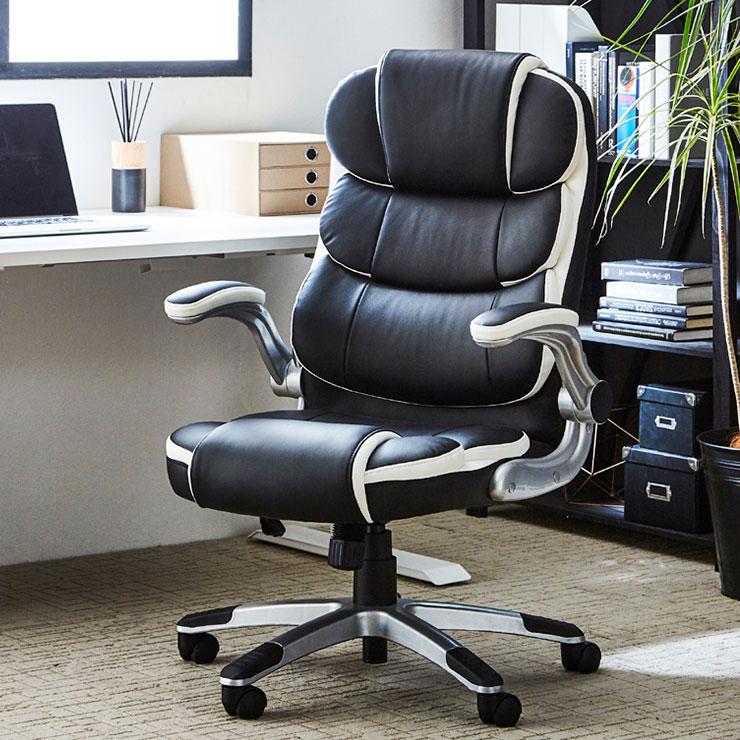 オフィス パーソナル チェアー 1人掛け 幅66cm ブラック 椅子 居間 部屋 おしゃれ リビング(代引不可)【送料無料】【S1】