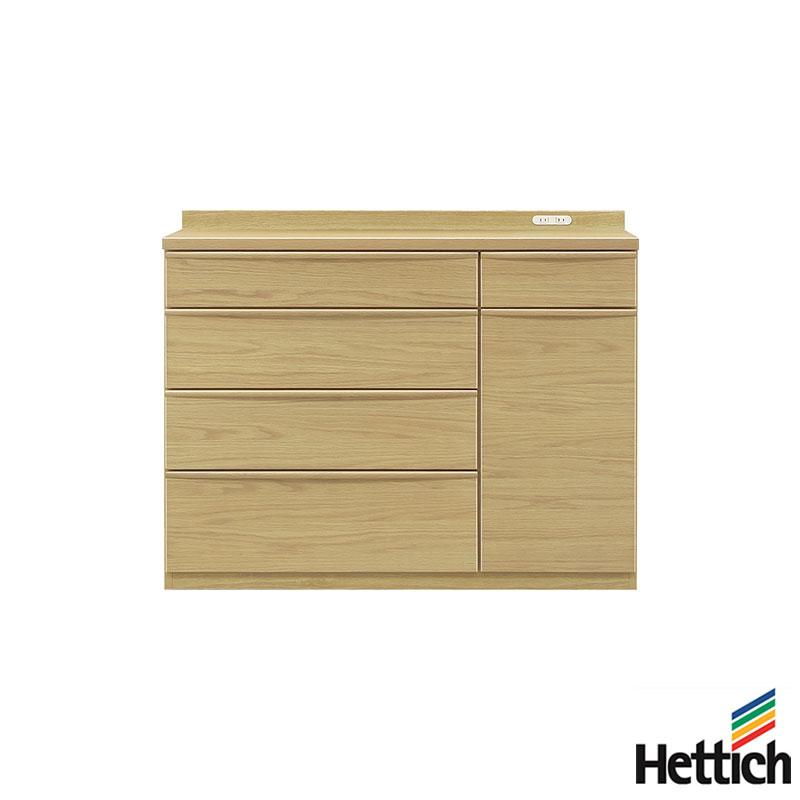 食器棚 キッチンカウンター 幅120cm 高さ95cm 開梱設置無料 完成品 キッチン収納 収納 キッチンボード オーク材(代引不可)【送料無料】