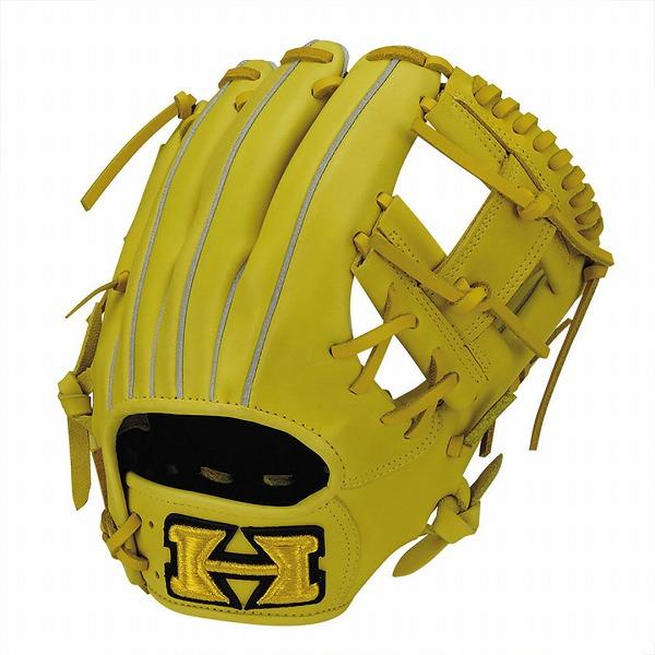 ハイゴールド Hi-Gold KKG-7514 軟式グラブ 心極シリーズ 二塁手・遊撃手用 LH Nイエロー 野球用品【送料無料】