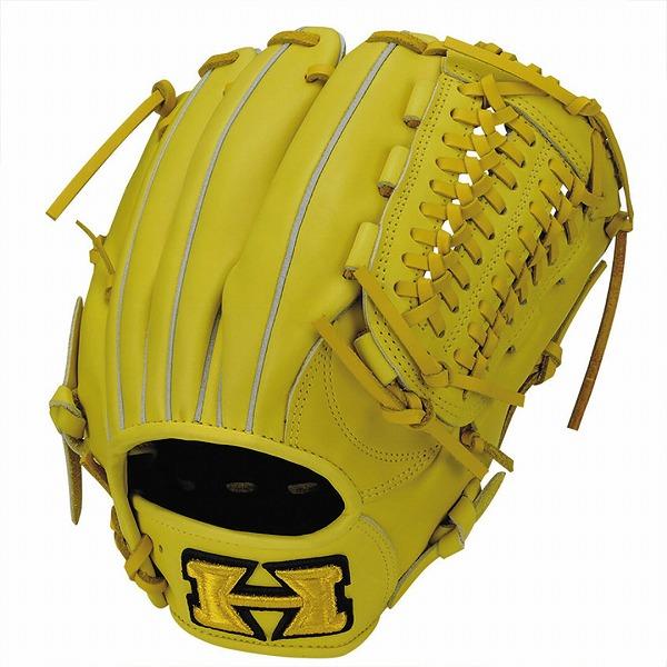 ハイゴールド Hi-Gold KKG-7515 軟式グラブ 心極シリーズ 三塁手・オールポジション用 LH Nイエロー 野球用品【送料無料】