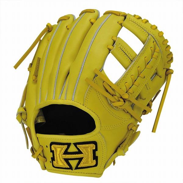 ハイゴールド Hi-Gold KKG-7516 軟式グラブ 心極シリーズ 二塁手・遊撃手用 LH Nイエロー 野球用品【送料無料】