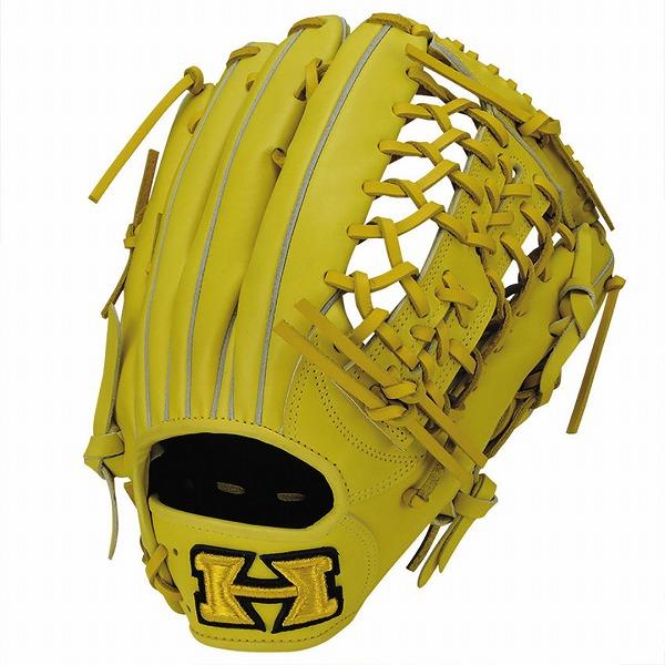 ハイゴールド Hi-Gold KKG-7518 軟式グラブ 心極シリーズ 外野手用 LH Nイエロー 野球用品【送料無料】