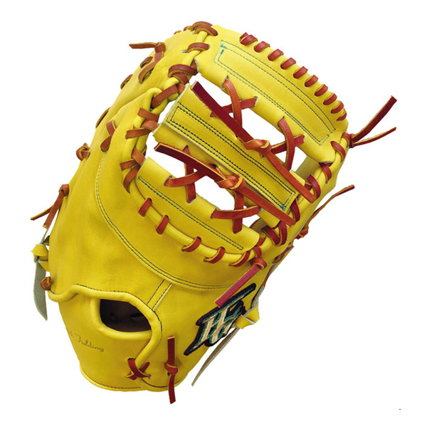 ハイゴールド HI-GOLD WKG-F1 技極 硬式ファーストミット Nイエロー/タン 野球 一般硬式用【送料無料】