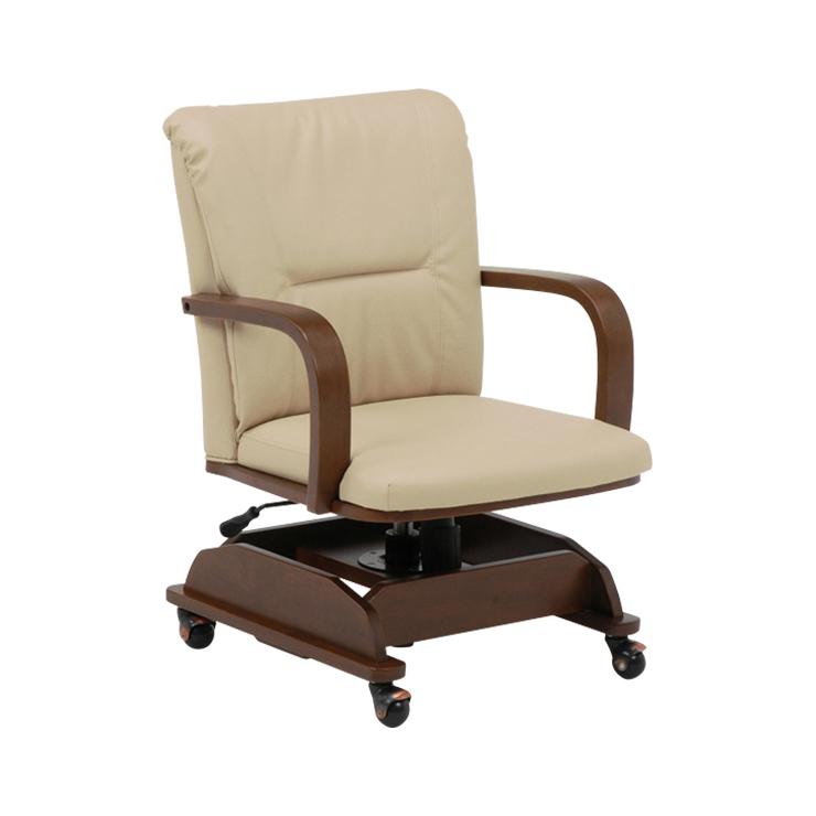 萩原 コタツチェアー KOC-7019BR 椅子 回転 高さ調節(代引不可)【送料無料】【S1】