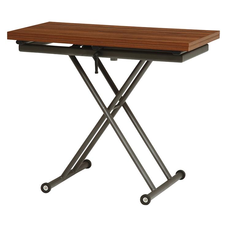 萩原 エクステンション昇降テーブル KT-3195BR テーブル 昇降 拡張 高さ調節(代引不可)【送料無料】