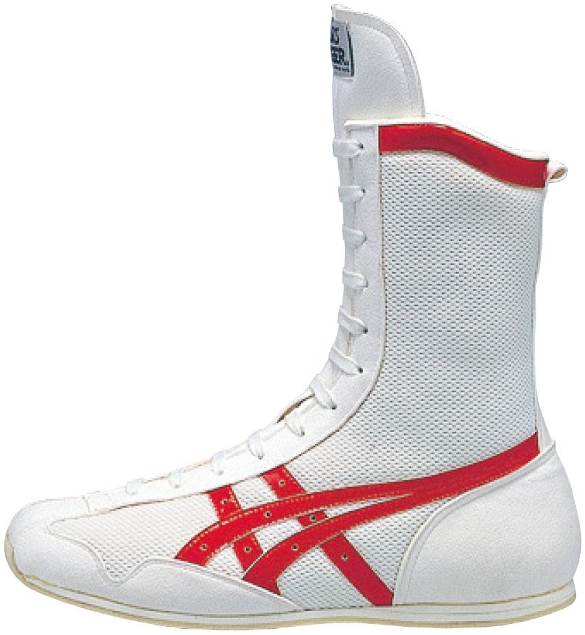 アシックス ボクシングシューズ ボクシングMS TBX704 ホワイト×レッド(0123)【S1】