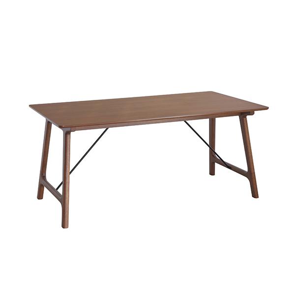 ダイニングテーブル 160 テーブル単品 食卓 テーブル ウォールナット突板 木製 ラバーウッド 木目 モダンデザイン 北欧(代引不可)【送料無料】