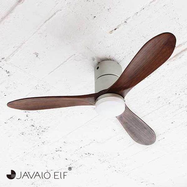 JAVALO ELF Modern Collection LED シーリングファン REAL wood blades シルバー JE-CF004M-SV おしゃれ モダン 天井照明 節電(代引不可)【送料無料】