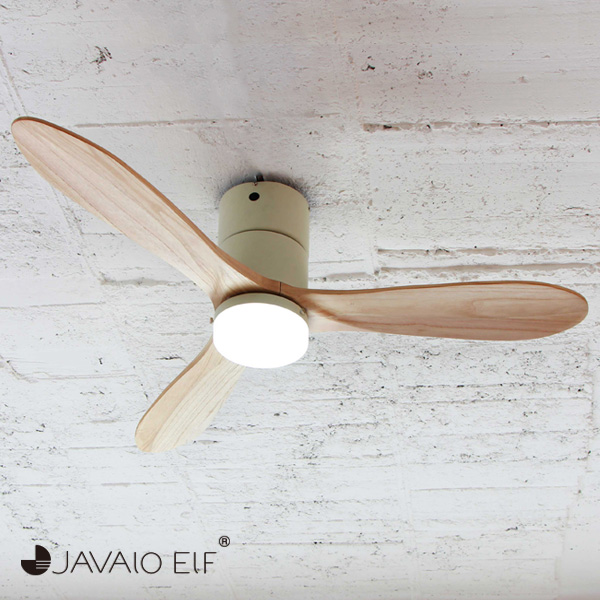 JAVALO ELF Modern Collection LED シーリングファン REAL wood blades ホワイト JE-CF004M-WH おしゃれ モダン 天井照明 節電(代引不可)【送料無料】