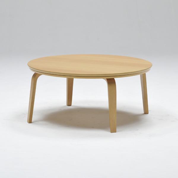 こたつ こたつテーブル 円形 幅90cm 天然木 ウォールナット シンプル リビングテーブル ローテーブル おしゃれ 北欧(代引不可)【送料無料】