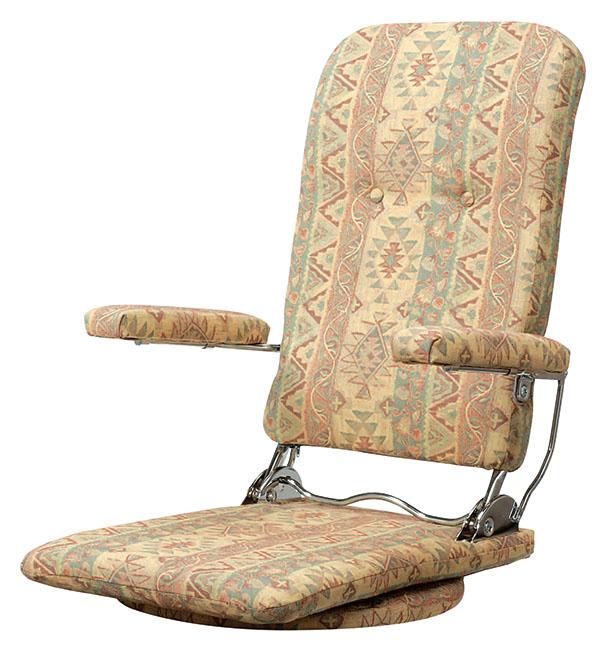 座椅子 360℃回転式 国産 日本製 リクライニング 本革使用 プレゼント ギフト おしゃれ 和 椅子 いす パーソナルチェア(代引不可)【送料無料】