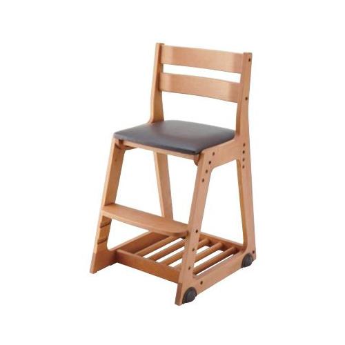 イトーキ 学習椅子 学習チェア 木製チェア キッズチェア 木製チェア ソフトレザー(ダークブラウン) KM16-81DB(代引不可)【送料無料】
