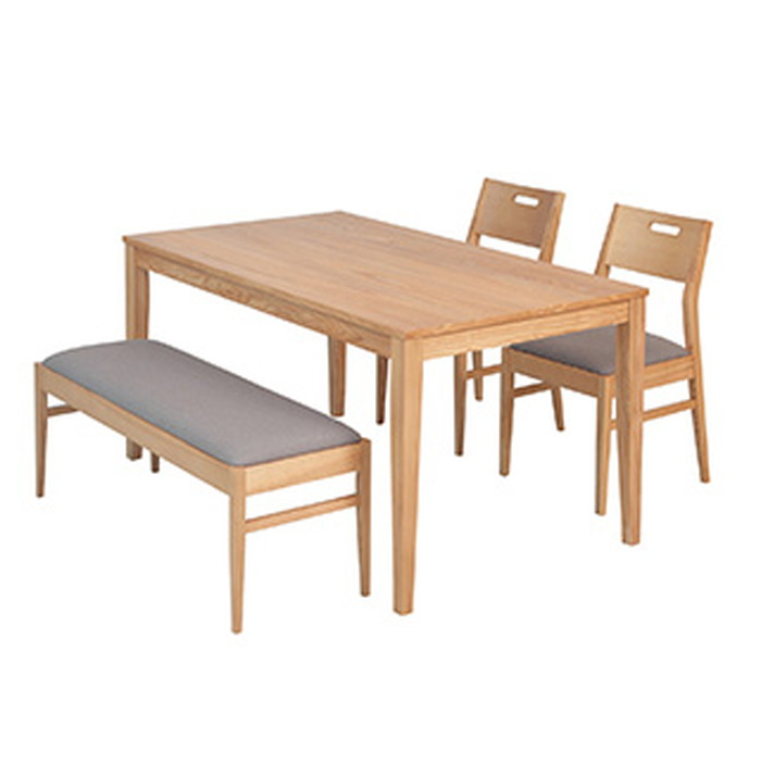 ダイニング リビング 机 椅子 4人掛け 天然木 食卓 シンプル おしゃれ 木製(代引不可)【送料無料】