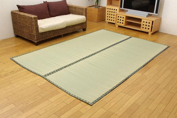 純国産 双目織 い草上敷 『松』 六一間8畳(約370×370cm)【送料無料】【代引き不可】