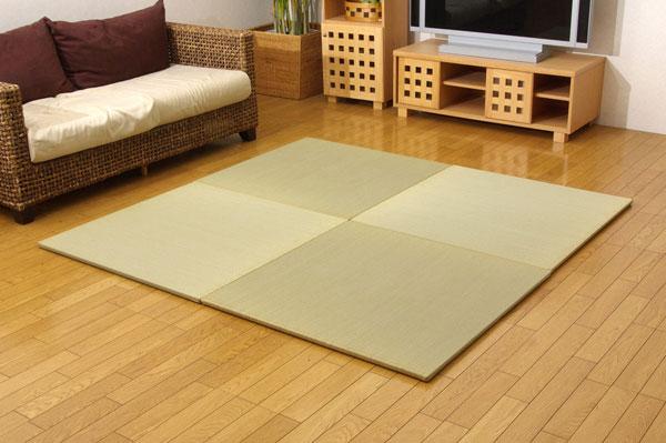 純国産 ユニット畳 『シンプル』 88×88×2.7cm(4枚1セット)【送料無料】【代引き不可】