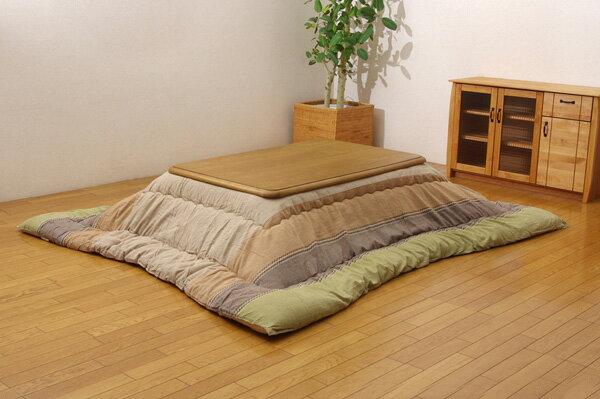 インド綿 こたつ厚掛け布団単品 『ミラン』 グリーン 205×245cm(代引き不可)【送料無料】