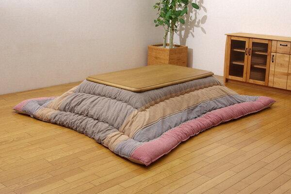 インド綿 こたつ厚掛け布団単品 『ミラン』 レッド 205×285cm(代引き不可)【送料無料】