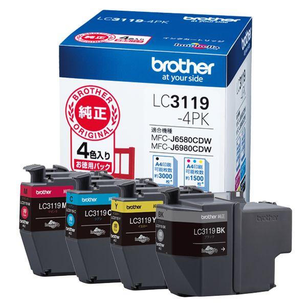 ブラザー工業 インクカートリッジ(大容量)LC3119-4PK(代引き不可)