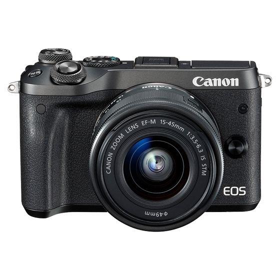 キヤノン <EOS>Canon ミラーレス一眼カメラ EOS M6・EF-M15-45 IS STM レンズキット(2420万画素/ブラック)[1724C014] EOSM6BK-1545ISSTMLK(き)