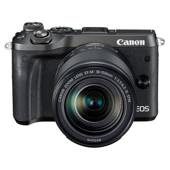 キヤノン <EOS>Canon ミラーレス一眼カメラ EOS M6・EF-M18-150 IS STM レンズキット(2420万画素/ブラック)[1724C024] EOSM6BK-18150ISSTMLK(き)