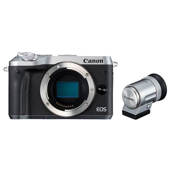 キヤノン <EOS>Canon ミラーレス一眼カメラ EOS M6・ボディ・EVFキット(2420万画素/シルバー)[1725C049] EOSM6SL-BODYEVFK(き)