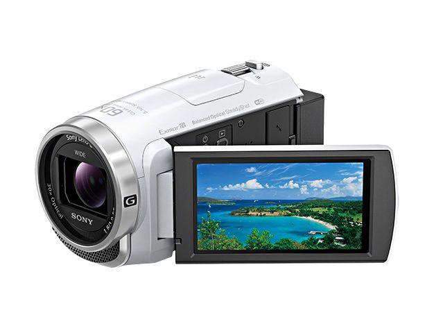 ソニー デジタルHDビデオカメラレコーダー Handycam CX680 ホワイト HDR-CX680/W(き)