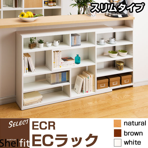 シェルフィット(Shelfit) ECラック 【スリムタイプ】 ECR-8012S リビング収納 家具 棚 ラック シェルフ【送料無料】
