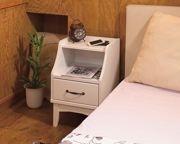 レトロア ナイトテーブル ベッドサイドテーブル キャビネット コンセント 引出し 寝室 収納 収納家具 木製 おしゃれ レトロ(代引不可)【送料無料】【S1】
