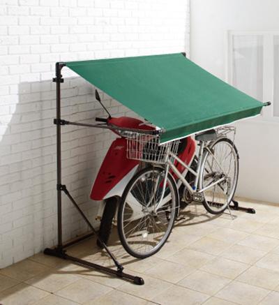 サイクルハウス + 専用重し4個セット 自転車 ガレージ バイクガレージ 雨除け サイクルポート(代引不可)【送料無料】