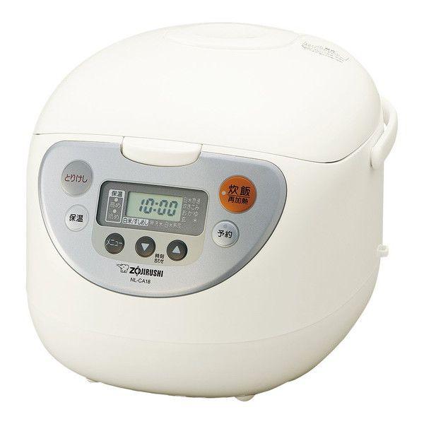 象印マホービン マイコン炊飯ジャー 1升 ホワイト NL-CA18 WA