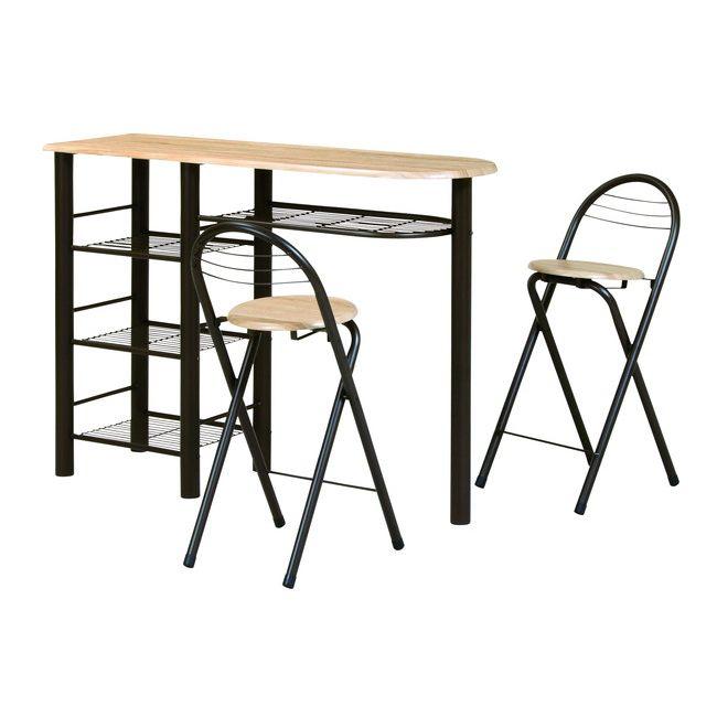 ハイテーブルセット CT-1200 カウンターテーブル バーテーブル ハイテーブルセット バーカウンター ハイカウンター ナチュラルブラウン(代引不可)【送料無料】
