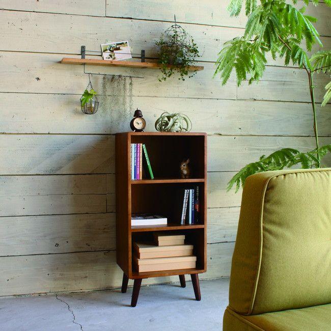 ココア ラック KOKOA-OR 棚 シェルフ 収納 木製 本棚 書棚 スリムラック スリムシェルフ ぬくもり あたたかみ(代引不可)【送料無料】