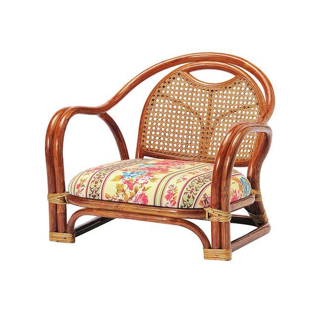 ラタンアームチエア ロータイプ SH200 R-A200 ロータイプ 高座椅子 座椅子 座いす フロアチェア 椅子 いす 籐 リビング(代引不可)【送料無料】