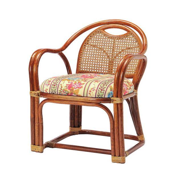 ラタンアームチェア ロータイプ SH390 R-A390 ロータイプ 高座椅子 座椅子 座いす フロアチェア 椅子 いす 籐 リビング(代引不可)【送料無料】