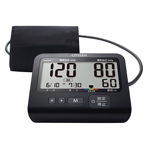シチズン 上腕式血圧計CITIZEN CHU502-BK【送料無料】