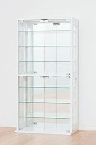 コレクションケース ホワイト 鏡張り ディスプレイラック(代引き不可)【送料無料】